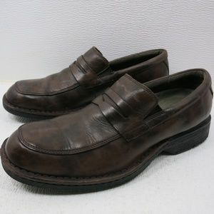 Clarks Strap Leather Comfort Dress Loafers Shoes 9